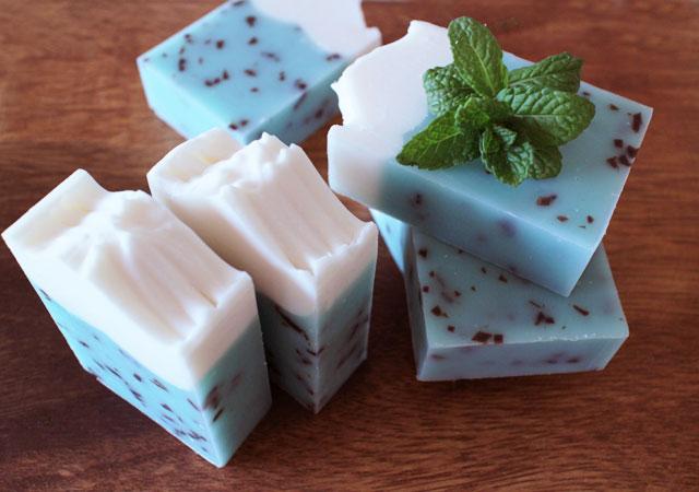 チョコミント石鹸