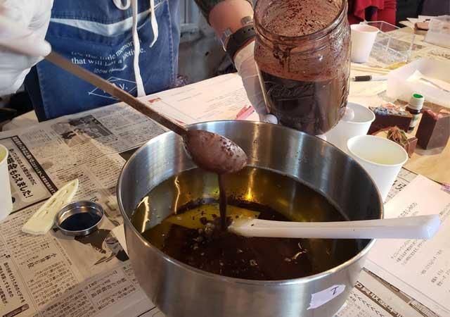 チョコレートワイン投入