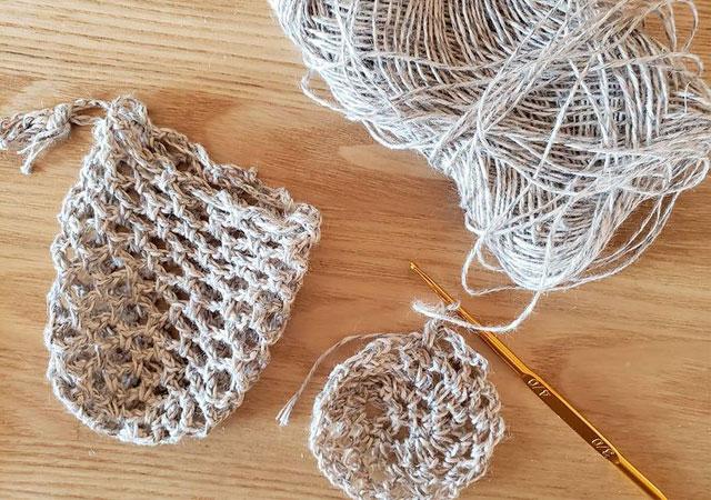 カギ編みせっけんネット